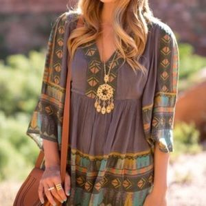 Free People Flowy boho dress/tunic XS